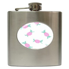 Candy Pink Blue Sweet Hip Flask (6 Oz) by Alisyart
