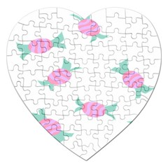 Candy Pink Blue Sweet Jigsaw Puzzle (heart) by Alisyart