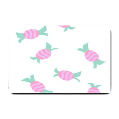 Candy Pink Blue Sweet Small Doormat  by Alisyart