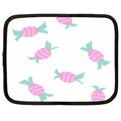 Candy Pink Blue Sweet Netbook Case (large) by Alisyart