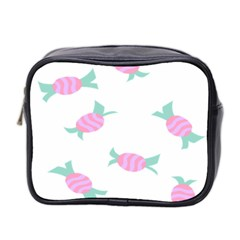 Candy Pink Blue Sweet Mini Toiletries Bag 2 Side by Alisyart