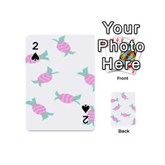 Candy Pink Blue Sweet Playing Cards 54 (mini)  by Alisyart