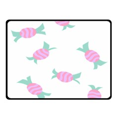 Candy Pink Blue Sweet Double Sided Fleece Blanket (small)  by Alisyart