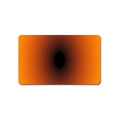 Abstract Circle Hole Black Orange Line Magnet (name Card) by Alisyart