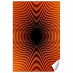 Abstract Circle Hole Black Orange Line Canvas 24  X 36  by Alisyart