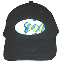 Candy Yellow Blue Black Cap by Alisyart