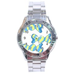 Candy Yellow Blue Stainless Steel Analogue Watch by Alisyart
