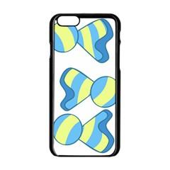 Candy Yellow Blue Apple Iphone 6/6s Black Enamel Case by Alisyart