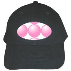 Circle Pink Black Cap by Alisyart