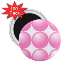 Circle Pink 2 25  Magnets (100 Pack)  by Alisyart