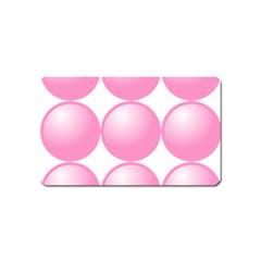 Circle Pink Magnet (name Card) by Alisyart