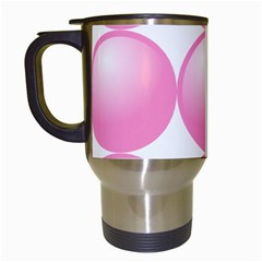 Circle Pink Travel Mugs (white) by Alisyart