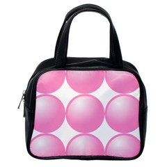 Circle Pink Classic Handbags (one Side) by Alisyart