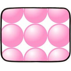 Circle Pink Fleece Blanket (mini) by Alisyart
