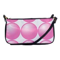 Circle Pink Shoulder Clutch Bags by Alisyart
