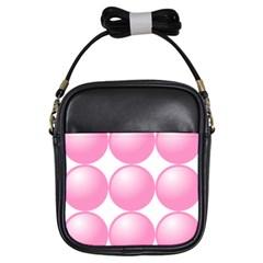 Circle Pink Girls Sling Bags by Alisyart