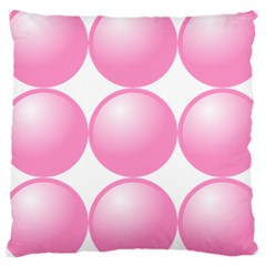 Circle Pink Large Cushion Case (two Sides) by Alisyart