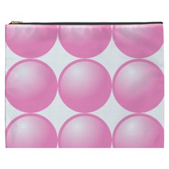 Circle Pink Cosmetic Bag (xxxl)  by Alisyart