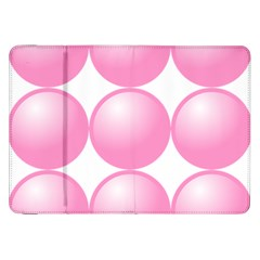 Circle Pink Samsung Galaxy Tab 8 9  P7300 Flip Case by Alisyart