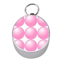 Circle Pink Mini Silver Compasses by Alisyart