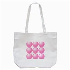 Circle Pink Tote Bag (white) by Alisyart