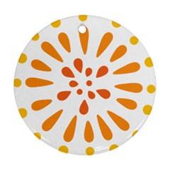 Circle Orange Ornament (round) by Alisyart