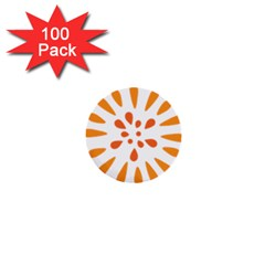 Circle Orange 1  Mini Buttons (100 Pack)  by Alisyart