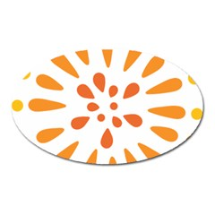 Circle Orange Oval Magnet by Alisyart