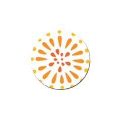 Circle Orange Golf Ball Marker (10 Pack) by Alisyart