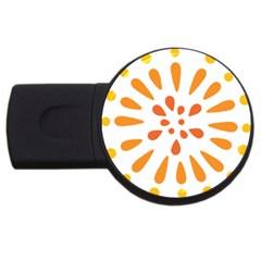 Circle Orange Usb Flash Drive Round (2 Gb) by Alisyart