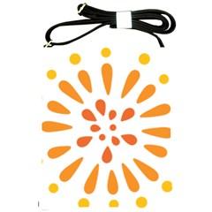 Circle Orange Shoulder Sling Bags by Alisyart