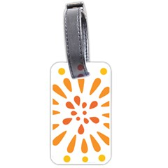 Circle Orange Luggage Tags (two Sides) by Alisyart