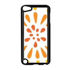 Circle Orange Apple Ipod Touch 5 Case (black) by Alisyart