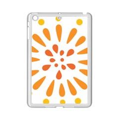 Circle Orange Ipad Mini 2 Enamel Coated Cases by Alisyart