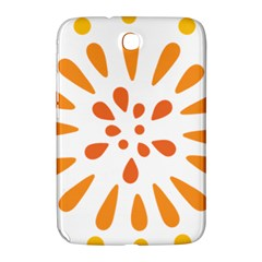 Circle Orange Samsung Galaxy Note 8 0 N5100 Hardshell Case  by Alisyart