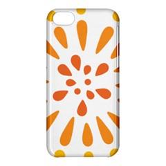 Circle Orange Apple Iphone 5c Hardshell Case by Alisyart