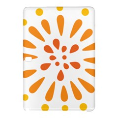Circle Orange Samsung Galaxy Tab Pro 10 1 Hardshell Case by Alisyart