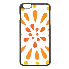 Circle Orange Apple Iphone 6 Plus/6s Plus Black Enamel Case by Alisyart