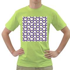 Circle Purple Green White Green T Shirt by Alisyart