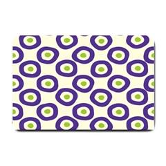 Circle Purple Green White Small Doormat  by Alisyart