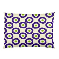 Circle Purple Green White Pillow Case by Alisyart