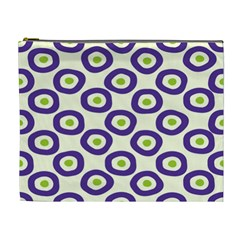 Circle Purple Green White Cosmetic Bag (xl) by Alisyart