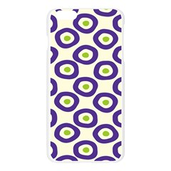 Circle Purple Green White Apple Seamless iPhone 6 Plus/6S Plus Case (Transparent) by Alisyart
