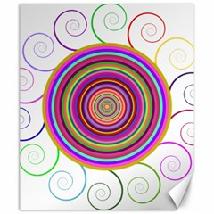 Abstract Spiral Circle Rainbow Color Canvas 20  X 24   by Alisyart