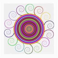 Abstract Spiral Circle Rainbow Color Medium Glasses Cloth by Alisyart