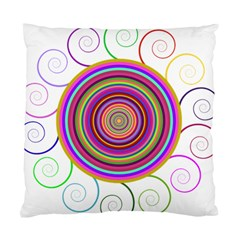 Abstract Spiral Circle Rainbow Color Standard Cushion Case (two Sides) by Alisyart