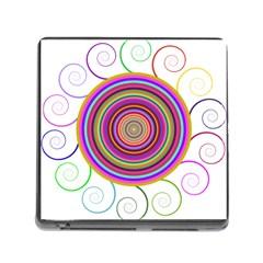 Abstract Spiral Circle Rainbow Color Memory Card Reader (square) by Alisyart
