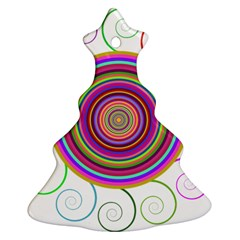 Abstract Spiral Circle Rainbow Color Ornament (christmas Tree)  by Alisyart