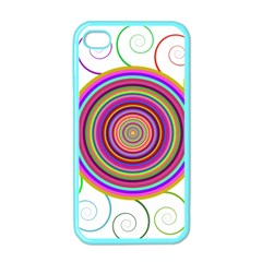 Abstract Spiral Circle Rainbow Color Apple Iphone 4 Case (color) by Alisyart