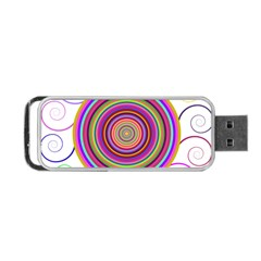Abstract Spiral Circle Rainbow Color Portable Usb Flash (one Side) by Alisyart